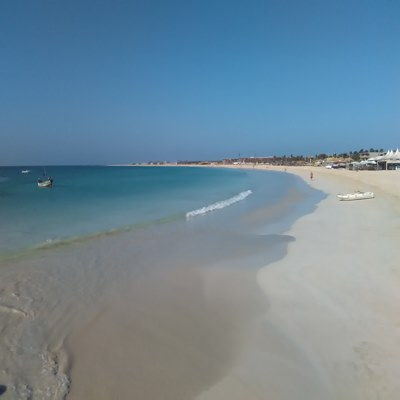 Ein Strand auf Sal