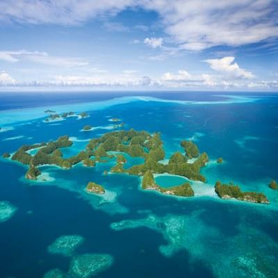 Mikroniesischen Inseln von oben