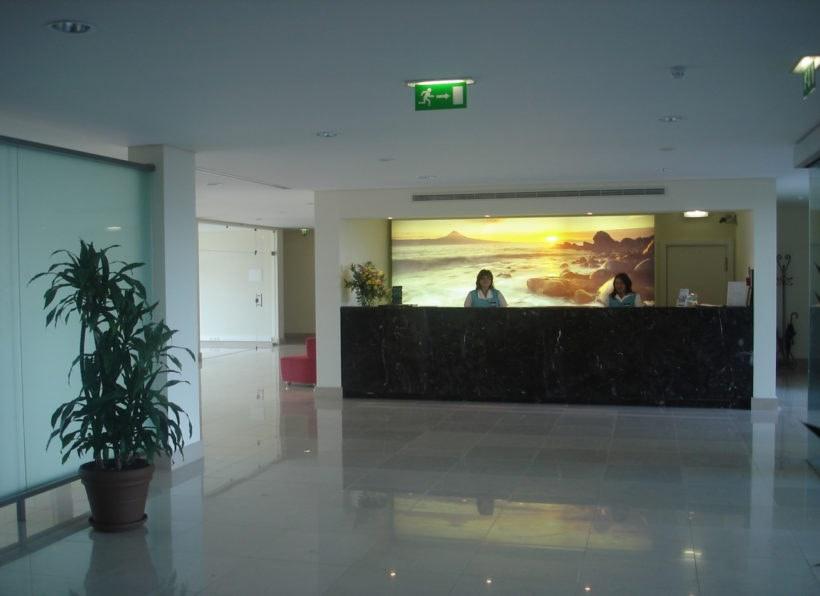 Hotel Caravelas Rezeption