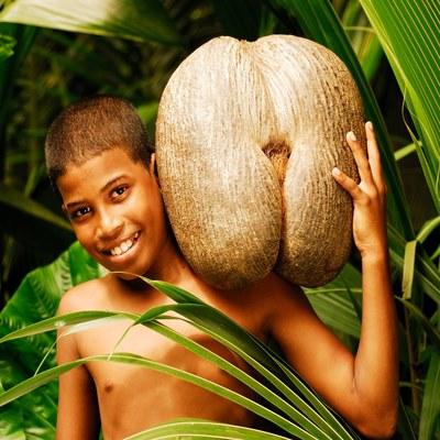 Einheimischer der Seychellen