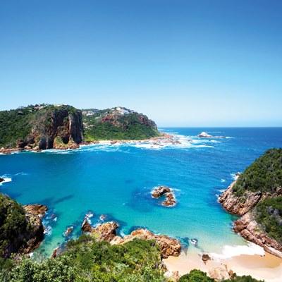 Bucht in Südafrika von oben