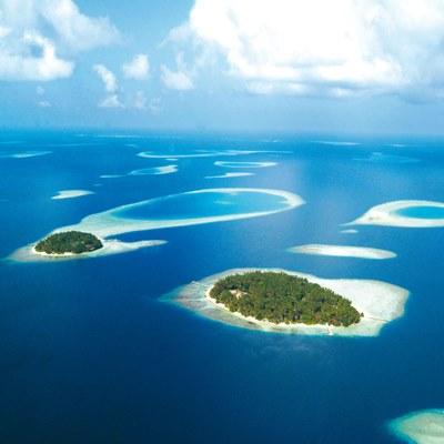Biyadhoo Island  aus der Vogelperspektive