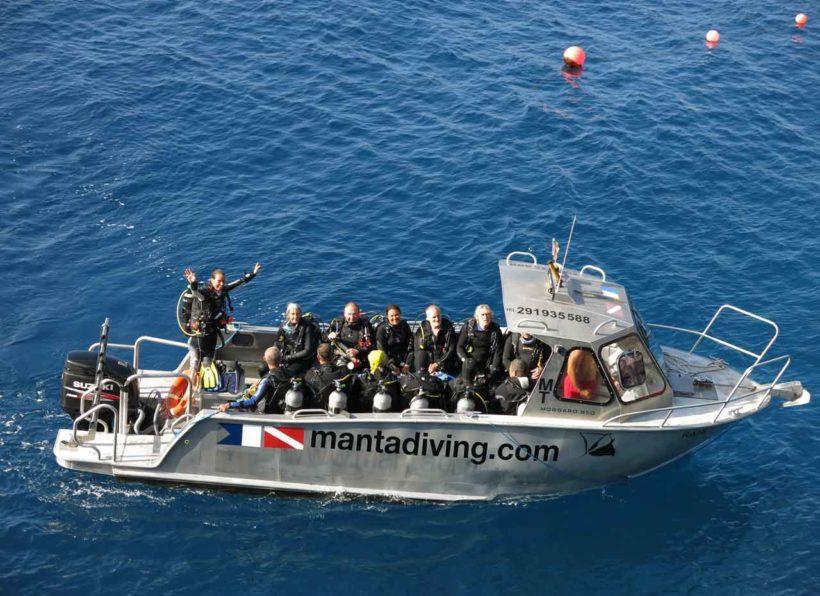 Manta Diving Madeira Tauchboot