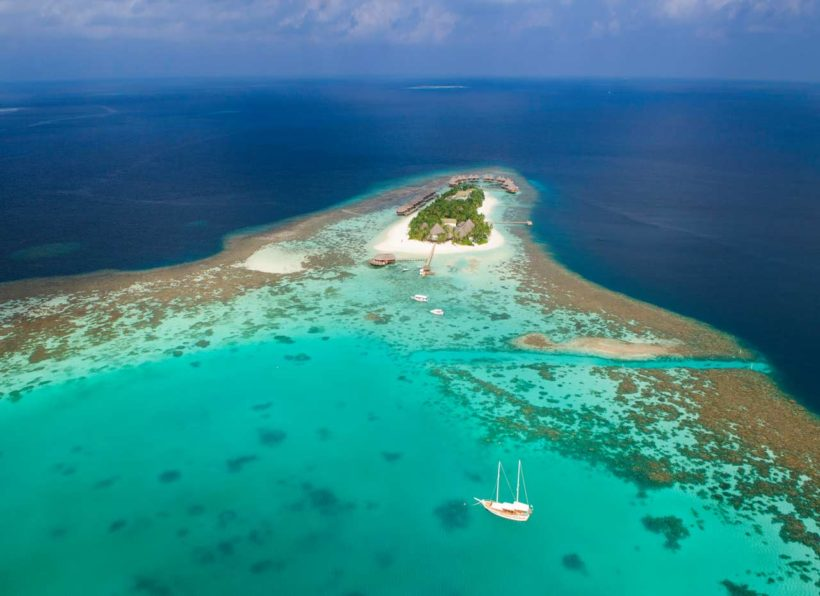 Mirihi Island Resort Aerial 2
