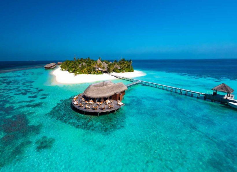 Mirihi Island Resort Aerial 3