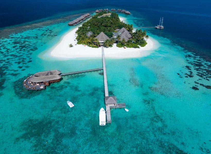 Mirihi Island Resort Aerial 4