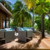 Mirihi Island Resort Anba Bar Terrasse