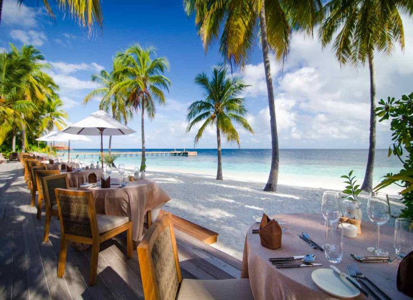 Mirihi Island Resort Dhonveli Restaurant Terrasse 2