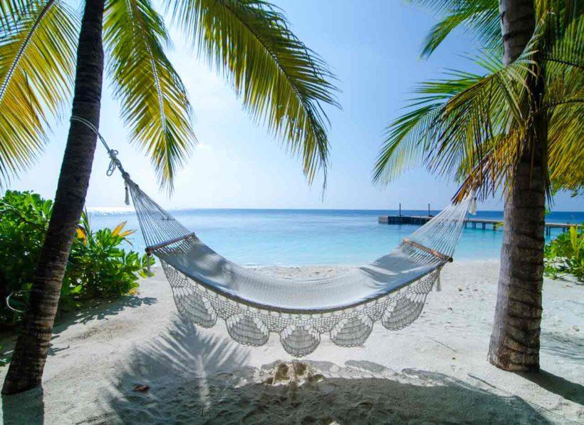 Mirihi Island Resort Strand Haengematte