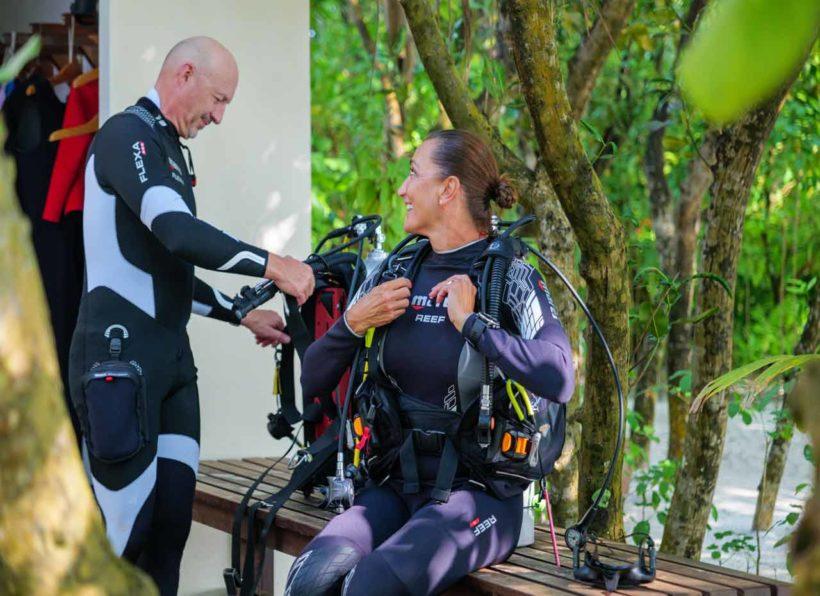 Mirihi Ocean Pro Diving Tauchen am Hausriff
